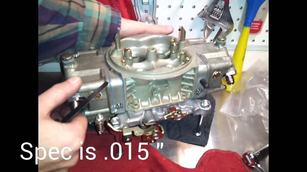 Accelerator Pump Adjustment - Holley Carburetor DIY
