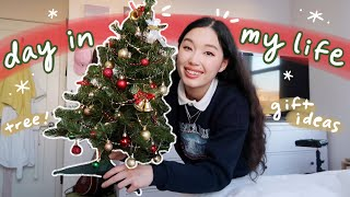 day in my life vlog: decorating for the holidays, gift ideas, chilling but busy