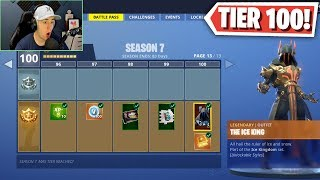 NUOVO: FORTNITE SEASON 7 MAX BATTLE PASS TIER 100 SKIN - Fortnite: Battle Royale Update!