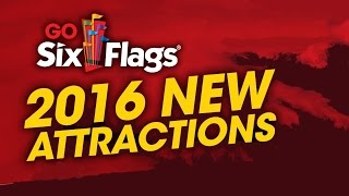 NEW 2016 Rides For Six Flags Theme Parks !!! ... Coming Attractions! Roller Coasters! Thrill Rides!