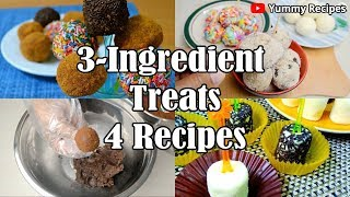 4 Easy 3-Ingredient Treats