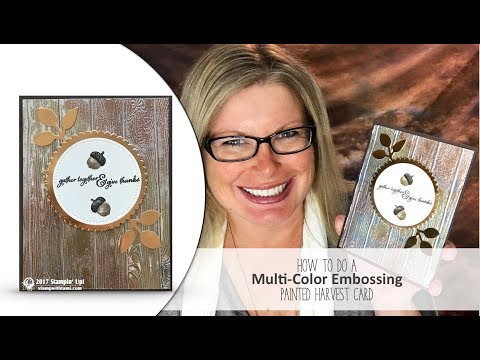How to do Multi-Color Heat Embossing Wow card, Blog Hop and Giveaway