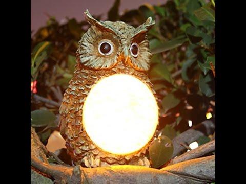 solar owl light garden yard decor bird outdoor light statue for kids christmas gifts - Outdoor Owl Christmas Decorations