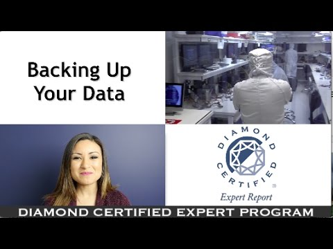 Diamond Certified Experts: Backing Up Your Data