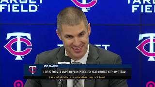Full press conference: Joe Mauer retires from MLB