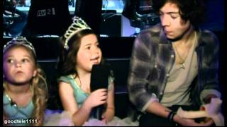 Sophia Grace and Rosie backstage at the X Factor Final