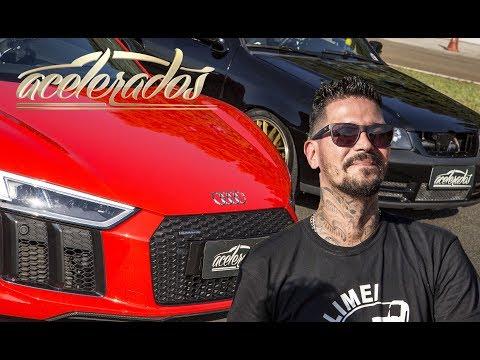RACHÃO COM FÁBIO D2M: AUDI R8 V10 x GOL GTI TURBO - RACHA ACELERADOS #1 | ACELERADOS