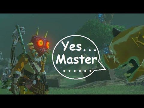 Majora Link Wants To Play With The Golden Monsters Master Mode Zelda Botw Youtube