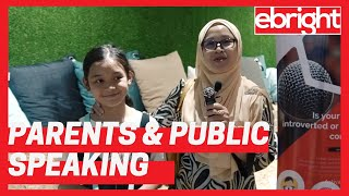Parent Testimonials for eBright Kids Public Speaking