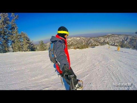 [HD] Mt. High East Resort 2016 - GoldRush Run  - Snowboarding