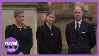 Prince Edward, Sophie and Lady Louise Windsor View Tributes for Prince Philip