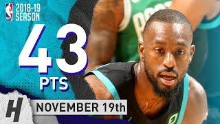 Kemba Walker EPIC Highlights Hornets vs Celtics 2018.11.19 - 43 Pts, 5 Ast, CLUTCH!