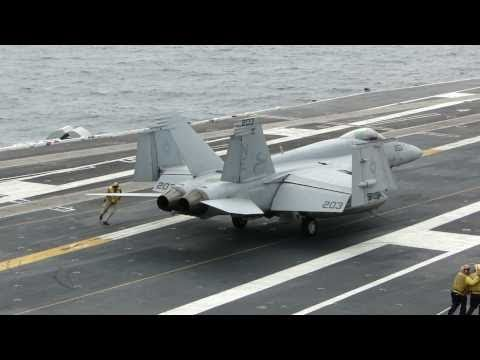 Carrier Qualifications On USS Abraham Lincoln (CVN 72) July 26, 2010 (1080p)