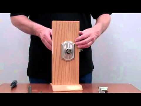 How To Change Handing On Schlage Fe51 Door Lock Youtube