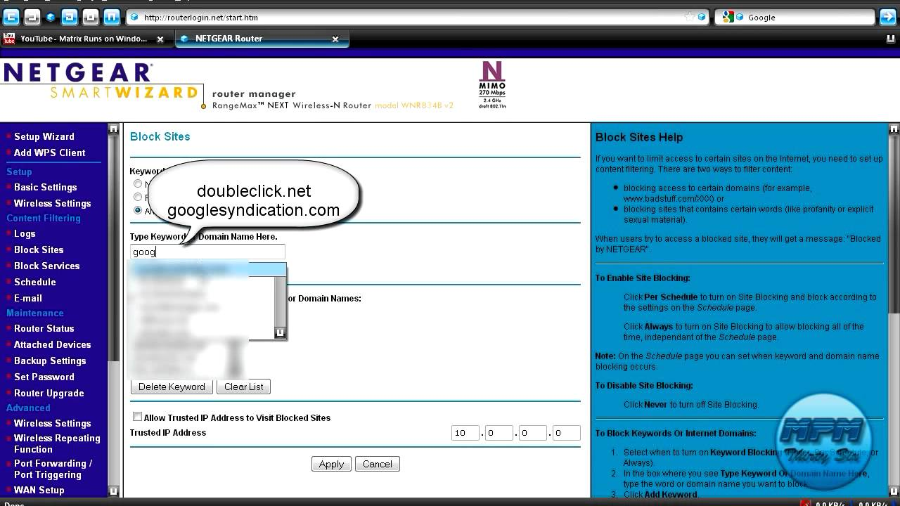 How to block ads using a netgear router youtube ccuart Image collections