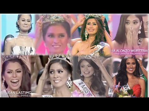 MISS PHILIPPINES UNIVERSE 2010-2017 Crowning Moments