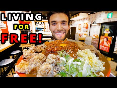 LIVING for FREE in TOKYO for 24 HOURS!