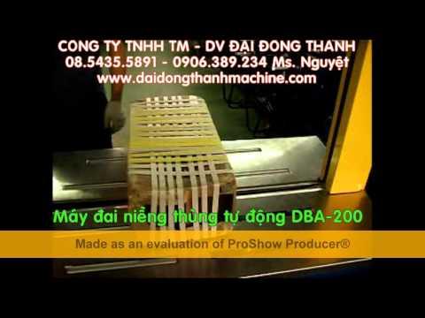 Máy đai niềng thùng tự động DBA 200 – may dai nieng thung tu dong