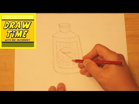 How to Draw a Bottle of Sunblock