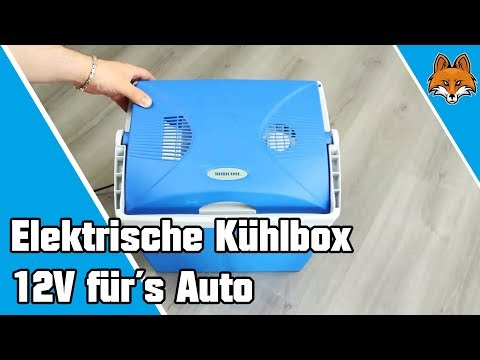 elektrische k hlbox f r s auto mit 12v anschlu youtube. Black Bedroom Furniture Sets. Home Design Ideas