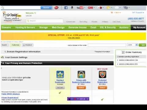 Hướng dẫn đăng ký tên miền ở Godaddy