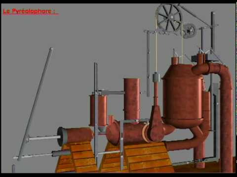 First Internal Combustion Engine - Invention - Pyréolophore