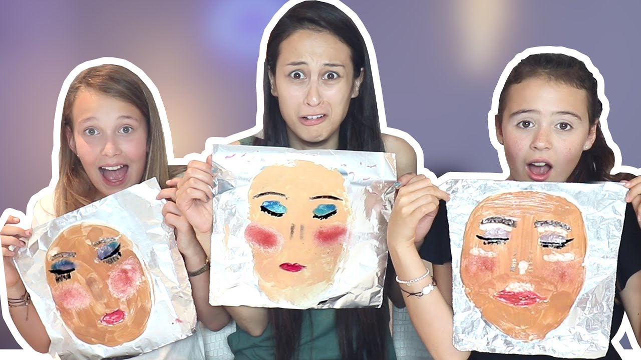 TIN FOIL MAKEUP CHALLENGE met GIRLYS BLOG!