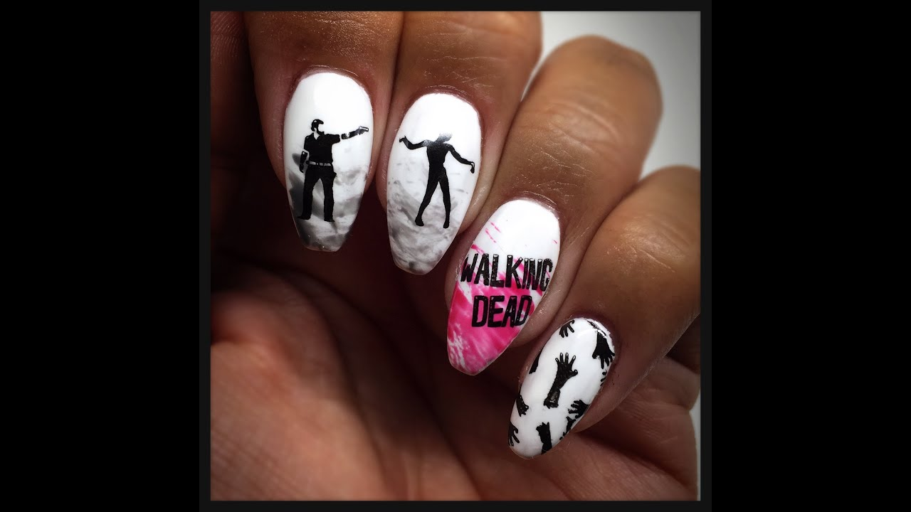 The Walking Dead Nail Stamping Tutorial   Uber Chic Zombie Love ...