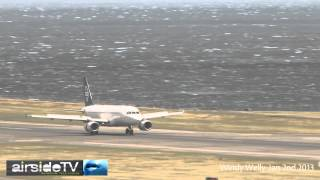 Extreme Landings Wellington Airport January 2nd 2013