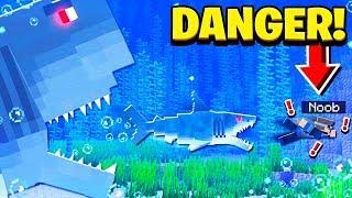 TERRIFYING MEGALODON SHARK MINECRAFT MOD!