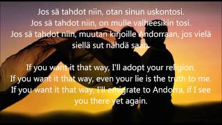 Hector - Jos sä tahdot niin (with English lyrics)