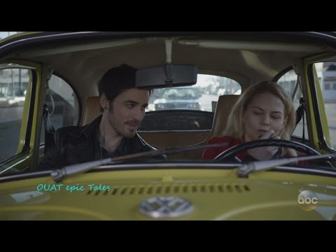 """Once Upon A Time 6x21  6x22  Hook Emma in Yellow car- -Everyone is Happy """" Season 6 Episode 21 & 22"""