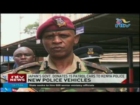 Japan's government donates 15 patrol cars to Kenya police