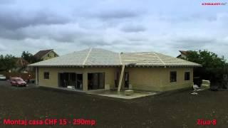 Montaj Casa CHF 15- Ziua 8-incepere placare fatada de S si V cu vata bazaltica