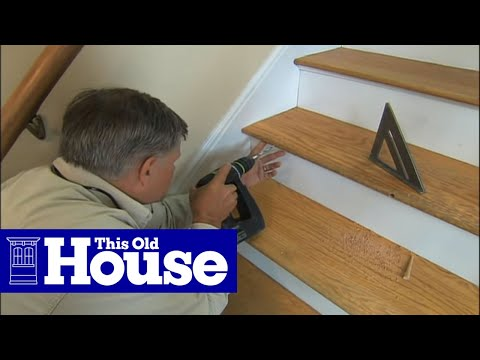 How To Repair A Broken Stair Tread This Old House Youtube