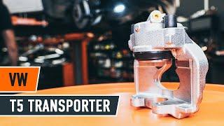 Substituição Pinças de freio VW TRANSPORTER: manual técnico