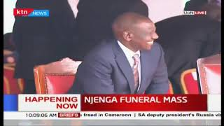 DP Ruto arrives at the Late Archbishop Njenga's funeral mass