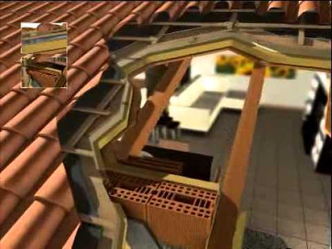 Video tecnico 3d tetto ventilato in legno youtube for Montaggio tetto in legno ventilato