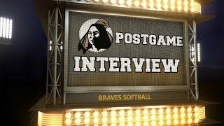 Braves Softball Post Game Interview: Ga. Southwestern, 4/6