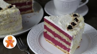 """Торт-Мусс """"Ягодная Свежесть"""" с Черной Смородиной ✧ Black Currant Mousse Cake (English Subtitles)"""