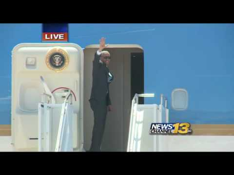 President Obama leaving the Peterson Air Force Base