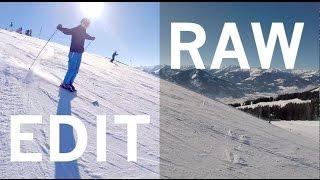 RAW vs. EDIT color correction - GoPro ski & snowboard