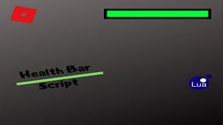 How to script Health bar Simple [Roblox Studios]