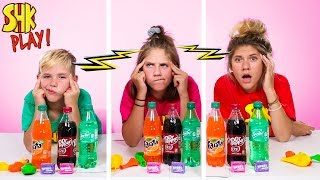 TOP 5 Science Experiments using CANDY & SODA Twin Telepathy Challenge! SuperHero Kids Challenges