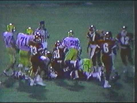 Dunedin High Football 1986 Parker Forced Fumble Thomas Recovers