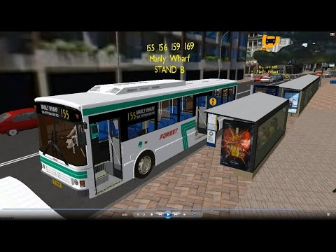 Omsi 2 tour (642) Sydney bus 155 Dee Why Shops - Brookvale - Manly Wharf @ MBO405 澳洲 悉尼