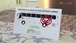 Umno receives high-tech Foton bus