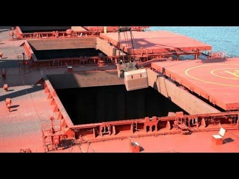 Bulk Carrier Crane in Operation - Bulk Carrier Discharging