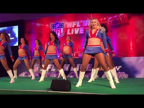 The NFL All-Star Cheerleaders (L.A. Rams) Performing at the NFLUK Live Event, London 28/10/17