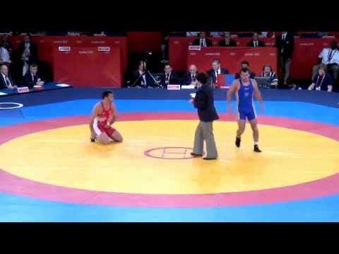 Gentry (CAN) v Tsargush (RUS); 2012 Olympics 74kg Bronze medal